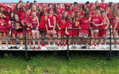 The Highlander faithful come to support their varsity football team.