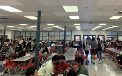 McLean students gather for lunch time where they see their friends and take a break from class. A lunch is a very packed lunch due to many students being very hungry and eager to eat.